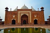 Agra, INDIA: One of the four forts surrounding Taj Mahal