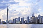 image of urbanisation  - Toronto city waterfront skyline in late afternoon - JPG