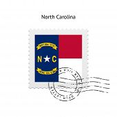 State of North Carolina flag postage stamp.