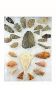 stock photo of arrowhead  - Indian arrowheads from Western New York area - JPG