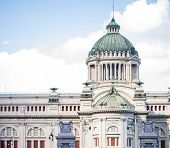 foto of throne  - The Ananta Samakhom Throne Hall in Thai Royal Dusit Palace Bangkok Thailand - JPG