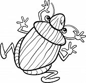image of shield-bug  - Black and White Cartoon Illustration of Funny Shield Bug Insect Character for Coloring Book - JPG
