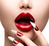 pic of long nails  - Fashion Model Girl Face - JPG