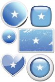 Somalia - Set of stickers and buttons