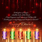 stock photo of diwali  - Vector happy diwali background - JPG