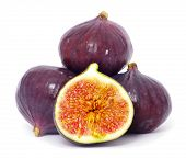 stock photo of laxatives  - fresh figs isolated on white background - JPG