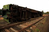 stock photo of inverted  - The Inverted from the Rail goods train - JPG