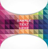 stock photo of triangular pyramids  - creative colorful triangular design banner design vector - JPG