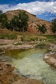 foto of sedimentation  - mineral hot springs in thermopolis wyoming with mineral sediment accumulating in the water - JPG