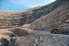 stock photo of open-pit mine  - Modern Diamond Mine In Udachny - JPG
