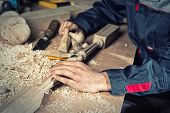 picture of carpenter  - Close up carpenter - JPG