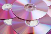 picture of byte  - CD and DVD data disks close-up background