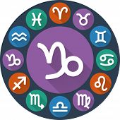 image of capricorn  - Astrological signs of the zodiac circle  - JPG