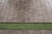 pic of stone floor  - black stone block floor of the pavement - JPG