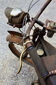 picture of flea  - Old rusty motorcycle in a flea market  - JPG