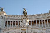 picture of altar  - The altare della patria monument called victoriano or vittoriano in rome italy - JPG