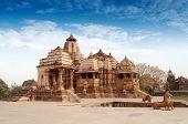 stock photo of khajuraho  - Devi Jagdambi Temple dedicated to Parvati Western Temples of Khajuraho - JPG