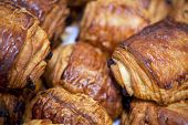 pic of french pastry  - Focus on French pastries in a bakery - JPG