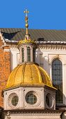 picture of stanislaus church  - Gilded dome of the Cathedral Basilica of St - JPG