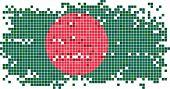 stock photo of bangladesh  - Bangladesh grunge tile flag - JPG