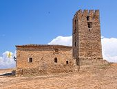 foto of nea  - Byzantine Church and tower to the Apostle Paul in the village of Nea Fokea - JPG