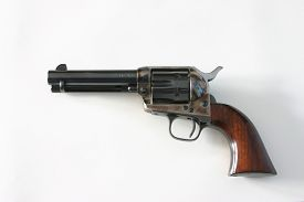 picture of colt  - Colt .45 Pistol, Peacemaker. Famous handgun of the American West. ** Note: Soft Focus at 100%, best at smaller sizes - JPG