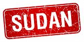 image of sudan  - Sudan red stamp isolated on white background - JPG