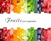 image of food  - Fresh fruits and vegetables - JPG