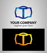 pic of letter t  - Letter T logo icon design template elements - JPG