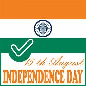 picture of indian independence day  - Independence day Indian flag background vector illustration - JPG