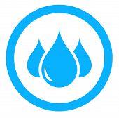 pic of spigot  - round aqua icon with blue drop silhouette - JPG