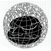 picture of population  - Hand drawn Population of Our World  - JPG