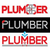 picture of hot water  - Plumbing Business Icon Vector Set - JPG