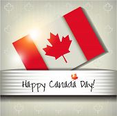 picture of happy day  - Happy Canada Day Card Or Ackground - JPG
