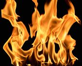 picture of flame  - Burning flame on black background - JPG