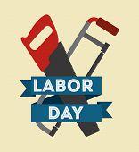 image of labor  - Labor day design over beige background - JPG