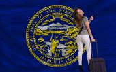 picture of nebraska  - young beautiful woman is traveling to nebraska - JPG