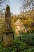 foto of church-of-england  - Ancient norman parish church in woodland in Minster Boscastle Cornwall England UK - JPG