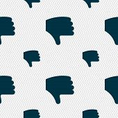 image of dislike  - Dislike Thumb down Hand finger down icon sign - JPG