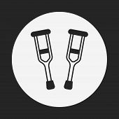 image of crutch  - Crutch Icon - JPG