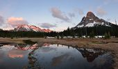 foto of kangaroo  - Liberty Bell and Kangaroo Ridge Sunset Okanogan National Forest Washington State - JPG