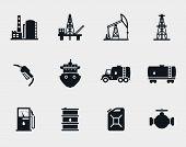 stock photo of petroleum  - Petroleum and oil icons set - JPG