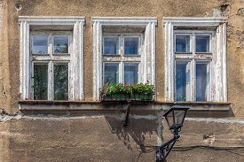 stock photo of tenement  - Facade of the tenement in the Old Town Market Square in Bielsko - JPG