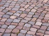 stock photo of pavestone  - background of colored pavestones in diagonal lines - JPG