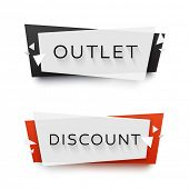 Set of transparent geometric vector banners. Vivid plastic banners with shadows made in material des poster
