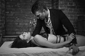 Domineering Lover Kisses His Sexy Submissive poster