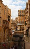 stock photo of olden days  - Street in an old European town  - JPG