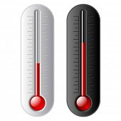 image of retort  - Vector thermometer - JPG