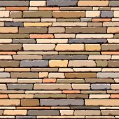 Stone wall. Seamless pattern. Vector.