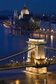 Budapest, the capital of Hungary is one of the nicest cities. It lies on both sides of the river Danube. The old Chain Bridge and the Parliament are famous landmarks of the city. poster